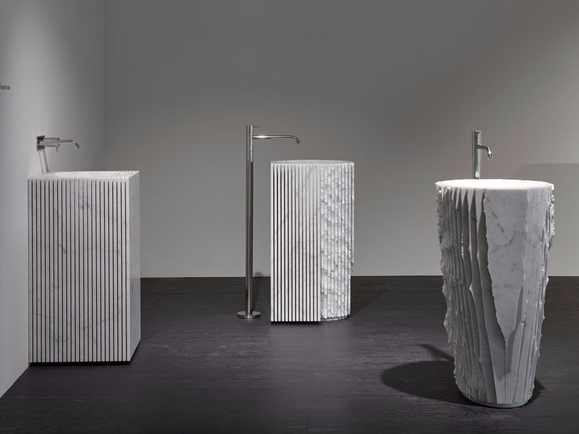 Freestanding marble washbasin CONTROVERSO by Antonio Lupi Design