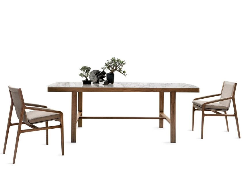 Rectangular wooden living room table CONVIVIO by ALIVAR