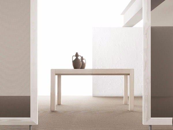 Extending rectangular wooden table CONVIVIO | Table by Bauline