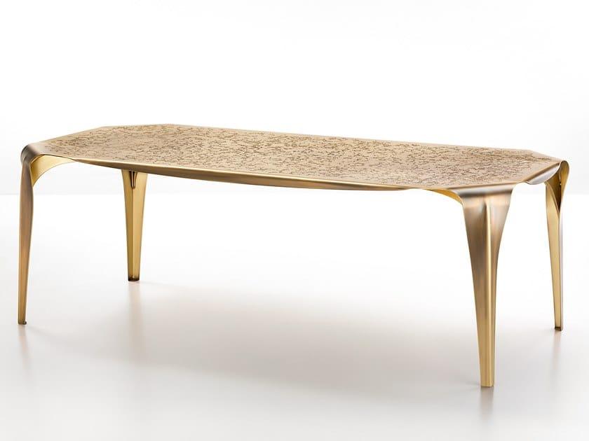 Tavolo rettangolare in metallo CONVIVIUM by DE CASTELLI
