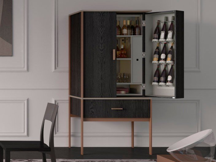 Bar Cabinet With Integrated Lighting