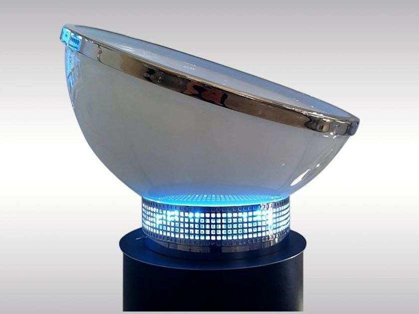 LED glass table lamp COOLER by Woka Lamps Vienna