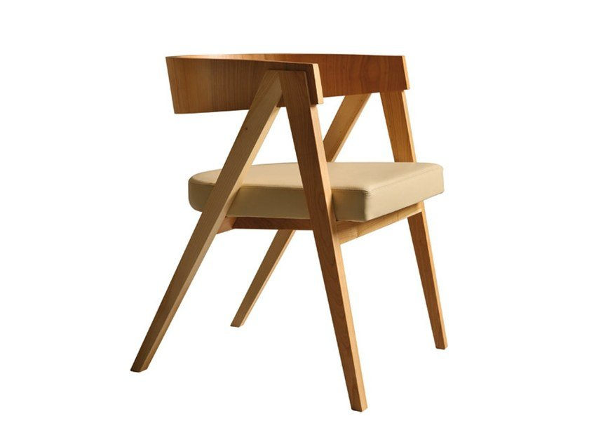 Cherry wood chair with armrests COOPER | Chair by Morelato