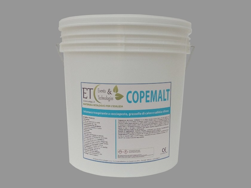 Natural plaster for sustainable building COPEMALT by ET Events & Technologies