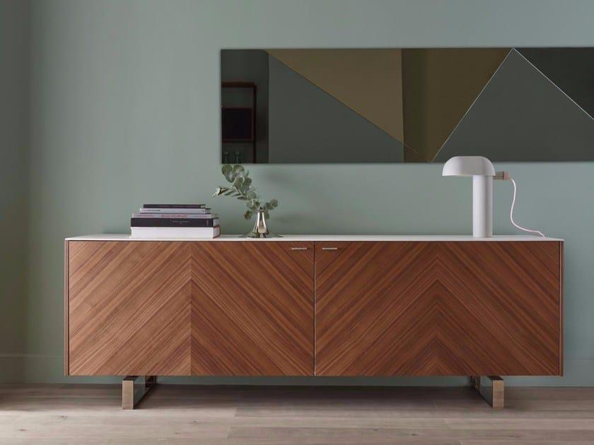 Wood veneer sideboard with doors COPLAN 2 by Ligne Roset