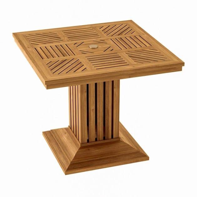 Square teak garden table COQUELICOT | Square table by ASTELLO