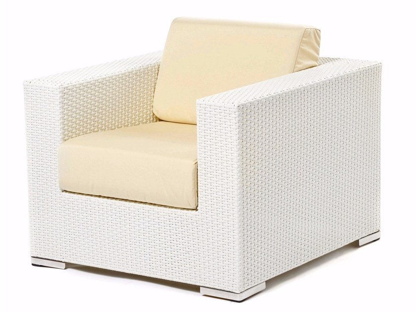 Armchair with synthetic fiber weaving CORA | Armchair by Varaschin