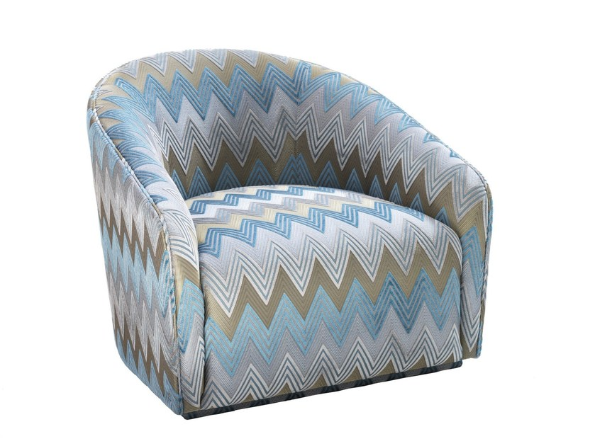 Fabric armchair with armrests CORAL | Fabric armchair by Smania