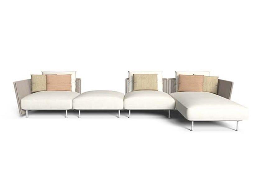 Sectional fabric garden sofa CORAL | Garden sofa by Talenti