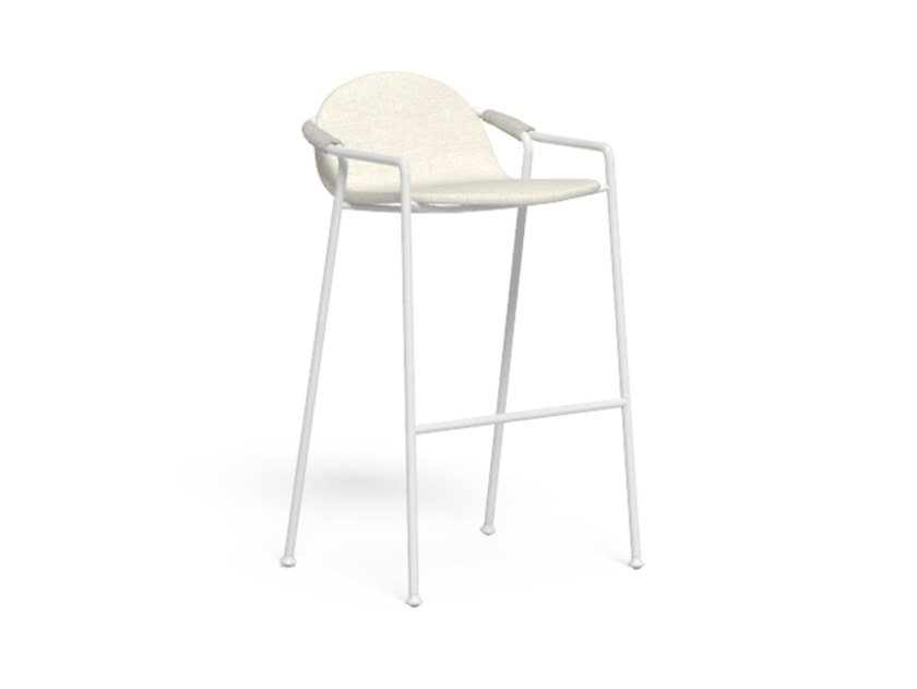 High fabric and aluminum stool with footrest CORAL | Garden stool by Talenti