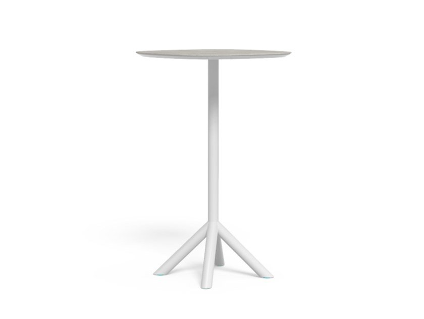 Garden table in aluminum and top in porcelain stoneware CORAL | High table by Talenti