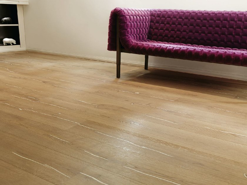 Wooden flooring CORAL OAK - WHITE BRUSHED, WHITE OIL by mafi