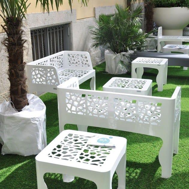 Zincato Lab23 Tavolino Table In Coral Acciaio nP8wk0O