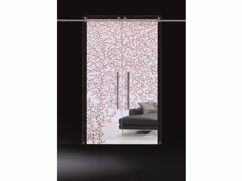 Glass sliding door CORALLO DIPINTO by Casali