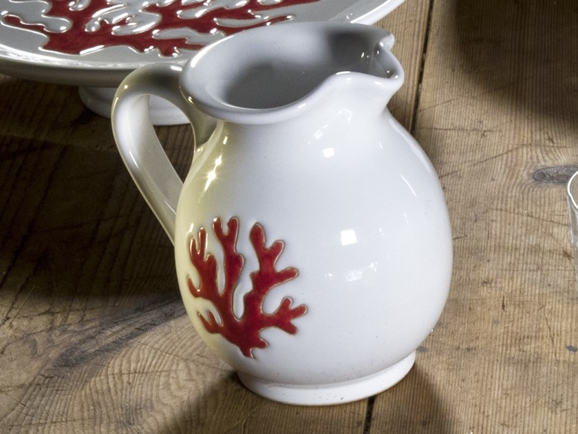 Ceramic jug CORALLO | Jug by Cerasarda