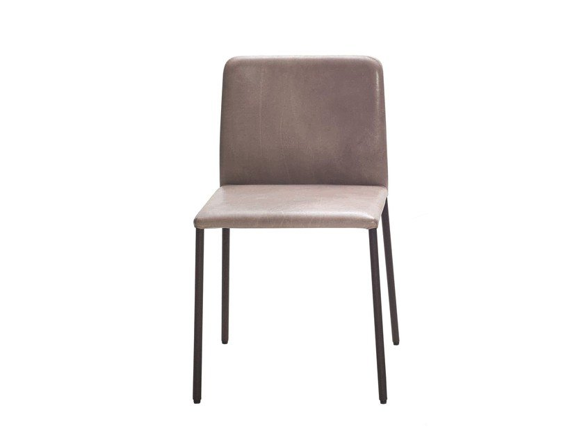 Upholstered leather chair CORBO | Leather chair by more