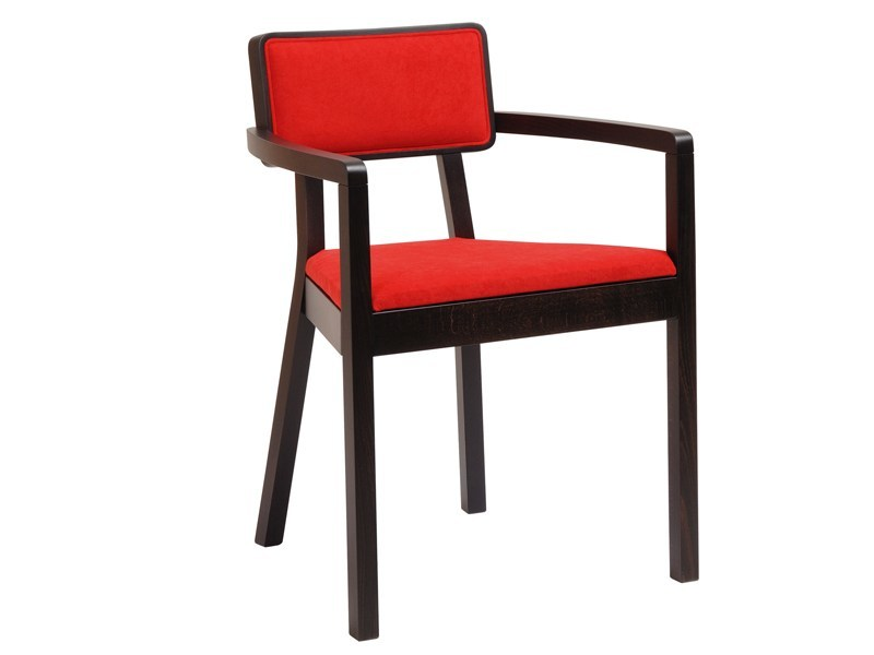 Wooden chair with armrests CORDOBA | Chair with armrests by TON