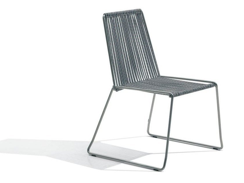 Sled base polyester chair CORDULA | Polyester chair by MissoniHome