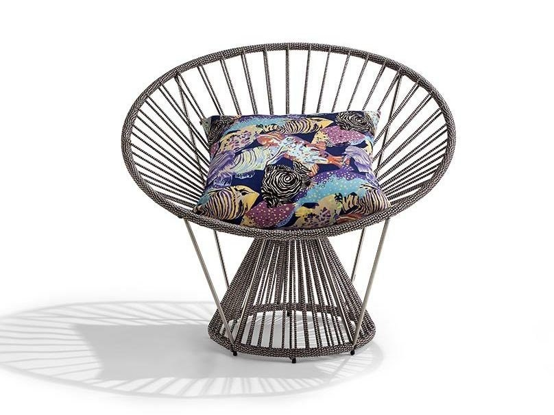 Garden polyester easy chair CORDULA | Polyester easy chair by MissoniHome