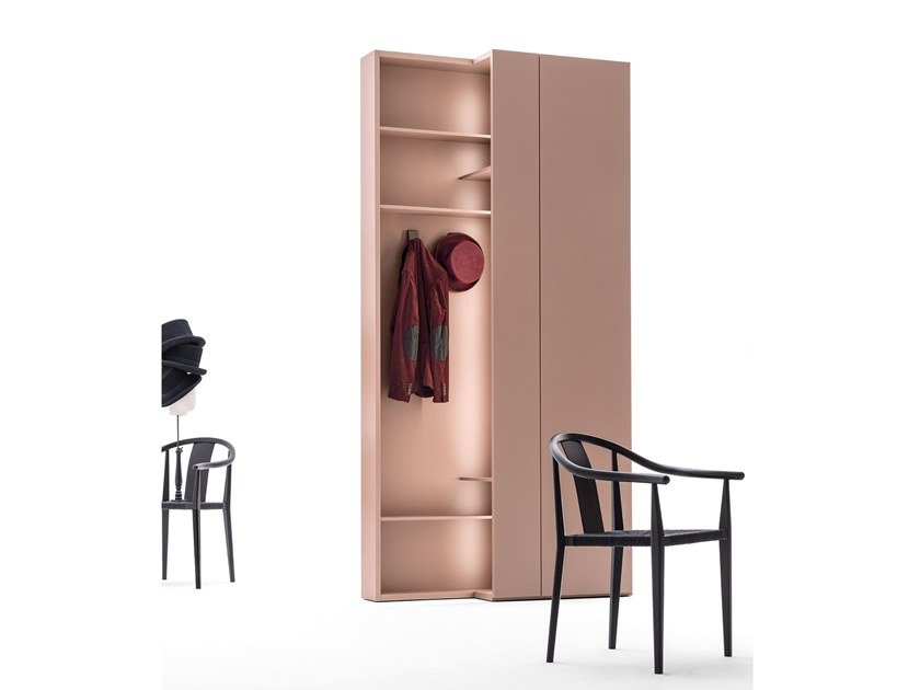 Sectional wardrobe CORE | Wardrobe with 1 door by Caccaro