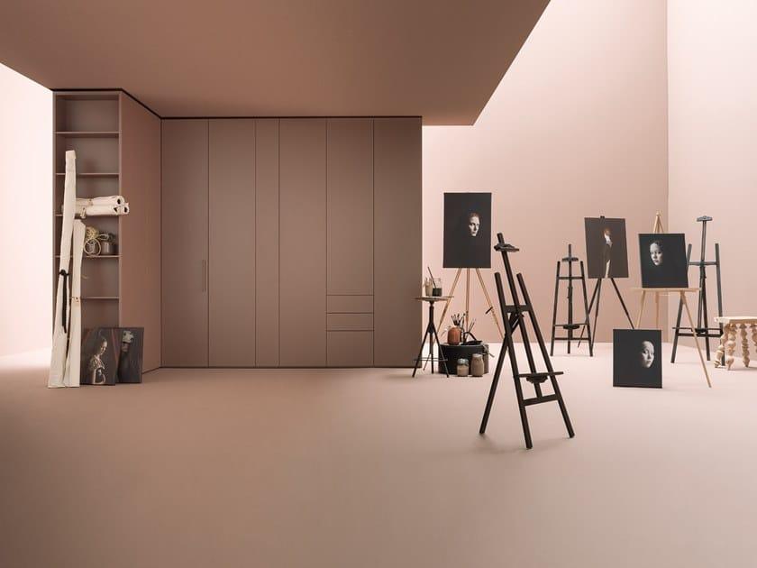 Corner sectional lacquered wardrobe CORE | Corner wardrobe by Caccaro