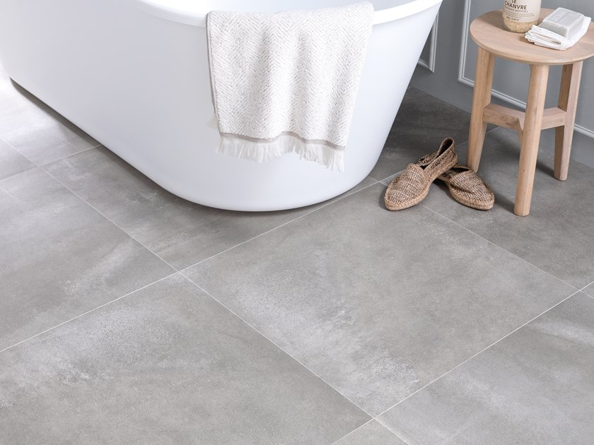 Porcelain stoneware wall/floor tiles with concrete effect CORE GREY by URBATEK