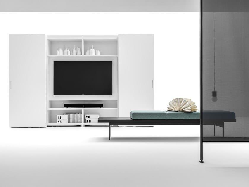 Guardaroba Con Porta Tv.Armadio Con Porta Tv Fisso Core Armadio Con Tv Integrata Caccaro