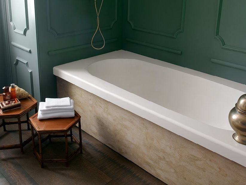Rectangular built-in Corian® bathtub CORIAN® DELIGHT 8420 by DuPont Protection Solutions