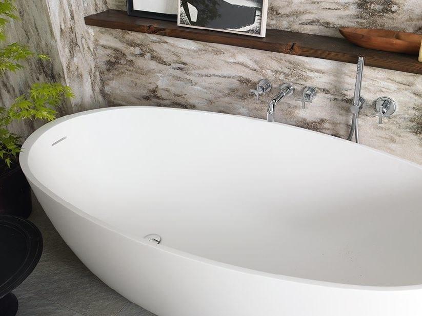 Vasca Da Bagno Freestanding Corian : Vasca da bagno centro stanza ovale in corian corian delight