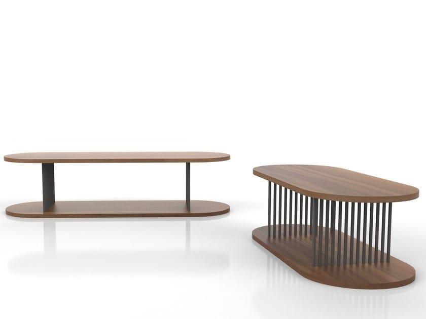 Oval wood veneer coffee table CORINTH | Oval coffee table by Tuna Ofis