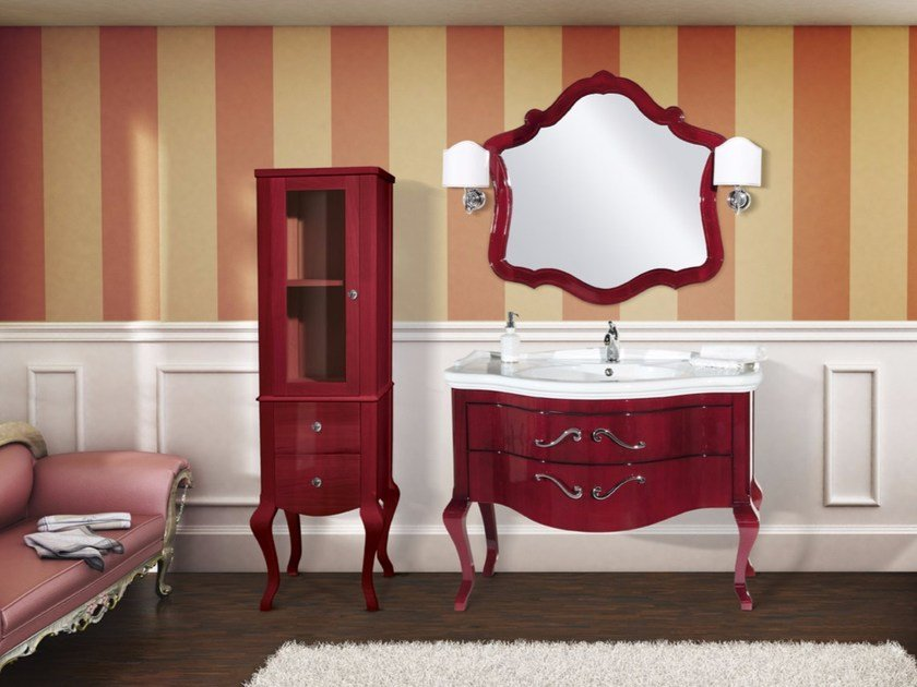Lacquered vanity unit with drawers with mirror CORINTO CM16CY by LA BUSSOLA