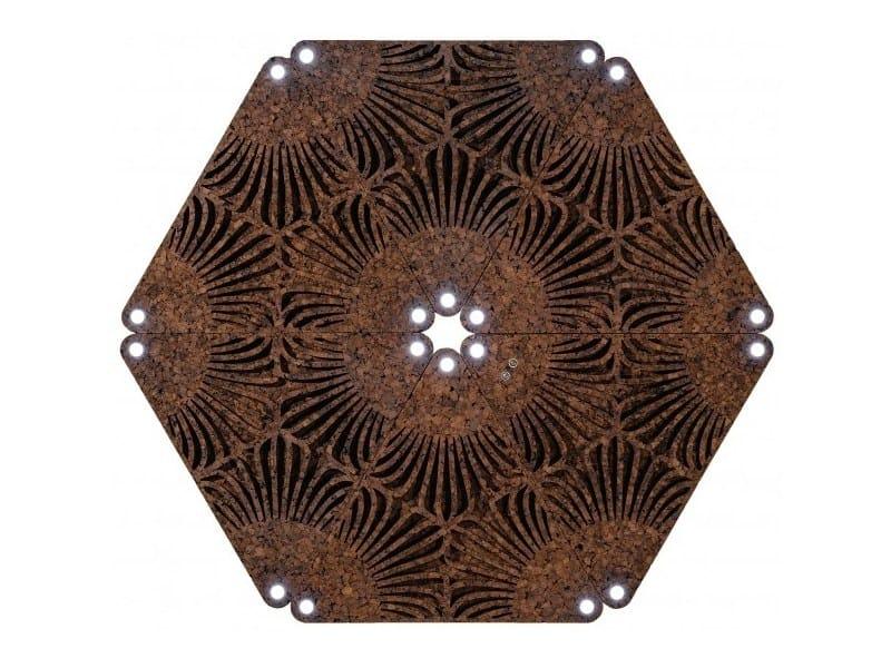Cork wall tiles CORITRIFIELD (LED) by GENCORK