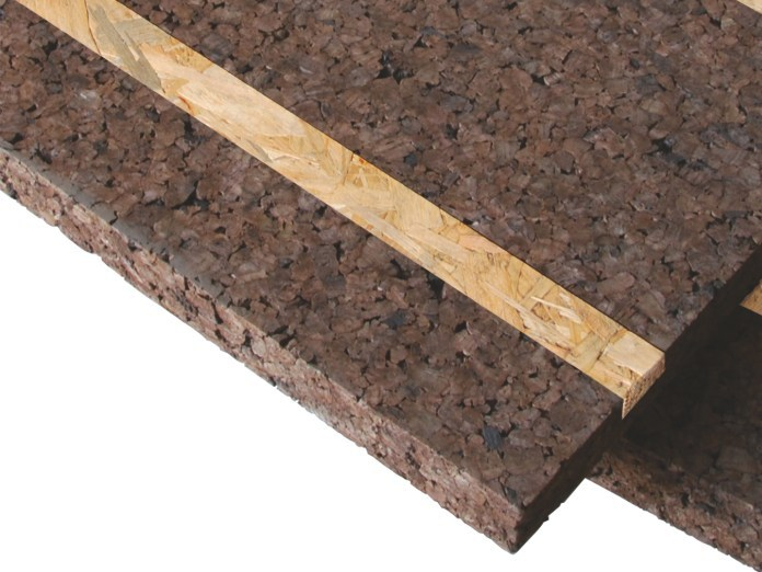 Cork Natural insulating felt and panel for sustainable building CORK-SELF by TECNOSUGHERI