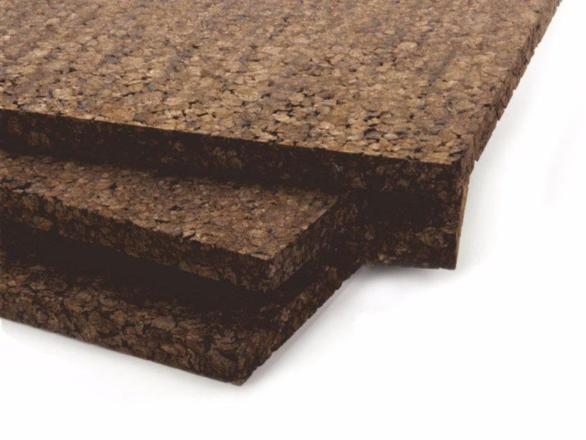 Cork thermal insulation panel / sound insulation panel CORKPAN by TECNOSUGHERI