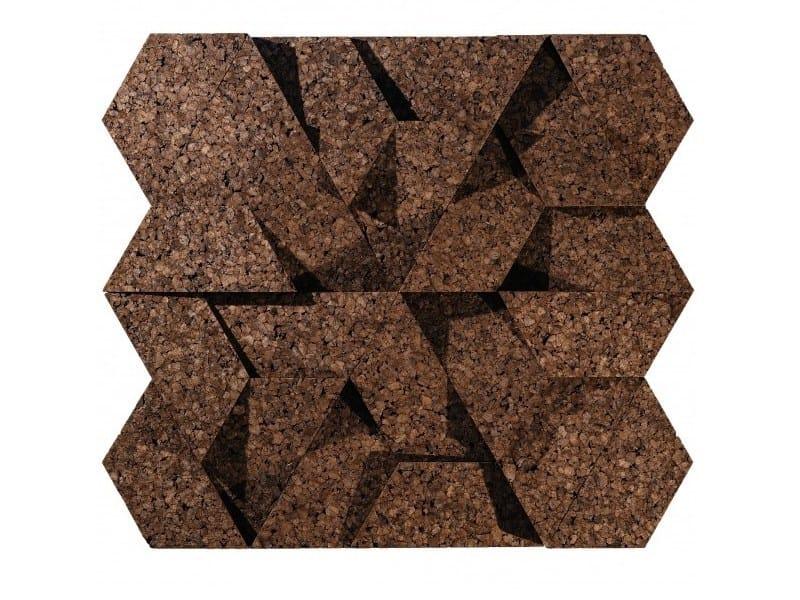 Cork wall tiles CORKTRIANGLE by GENCORK