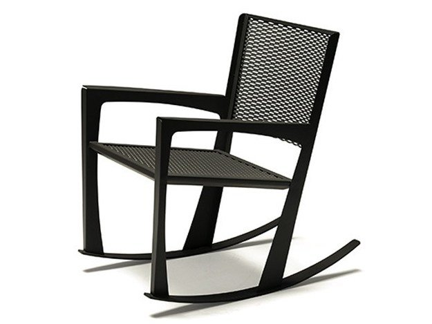 Rocking chair with armrests CORNELIA by Cattelan Italia