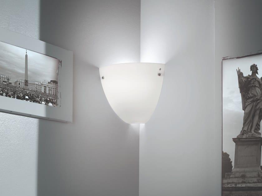 Satin glass wall lamp CORNER AP by Vetreria Vistosi
