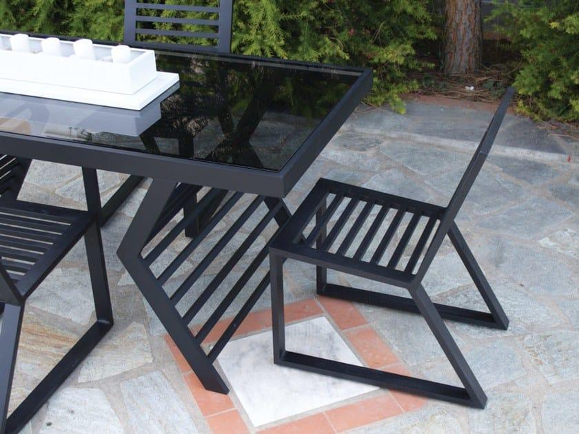 Sled base aluminium garden chair CORNER   Aluminium garden chair by Efasma