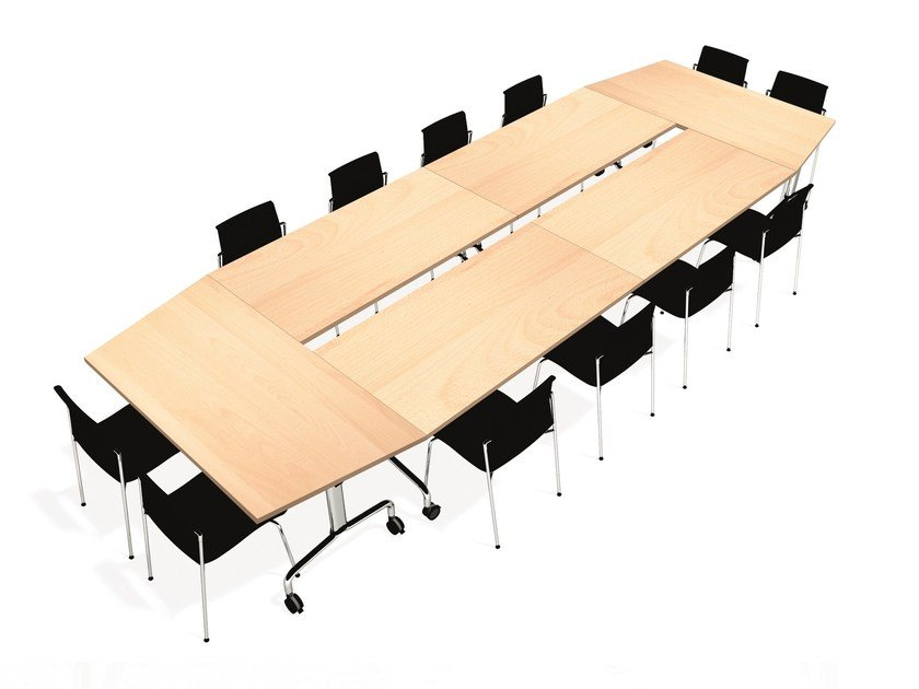 CORNER Folding Meeting Table By Emmegi - Fold away conference table