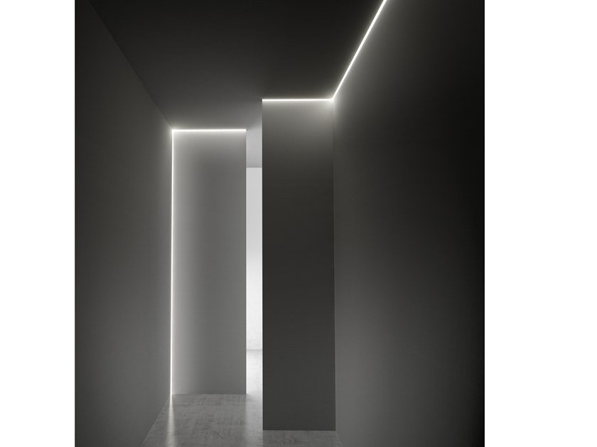 Extruded aluminium Linear lighting profile for LED modules CORNER by PANZERI