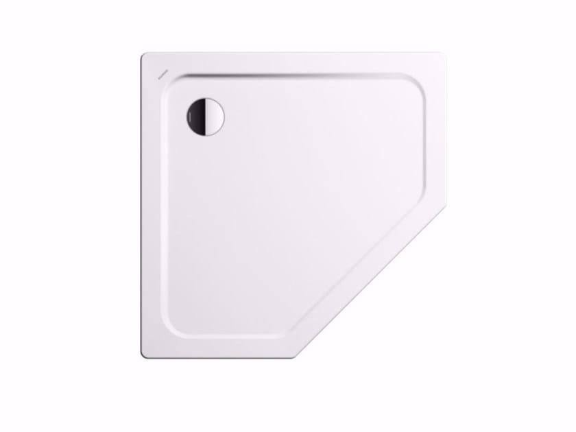 Corner enamelled steel shower tray CORNEZZA by Kaldewei Italia