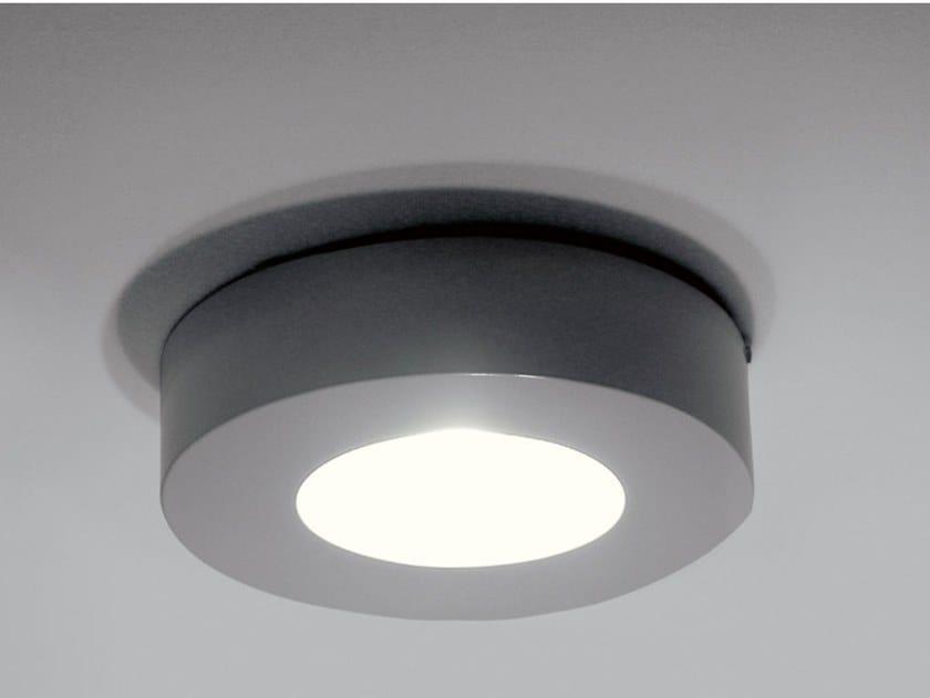 Direct light aluminium ceiling lamp with dimmer CORONA   Aluminium ceiling lamp by Martinelli Luce