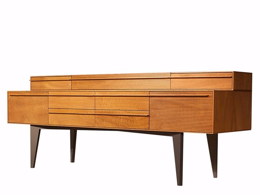 Solid wood sideboard with drawers CORONA by Mobi