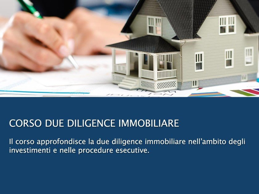 Mass appraisal video training course CORSO DUE DILIGENCE IMMOBILIARE by UNIPRO