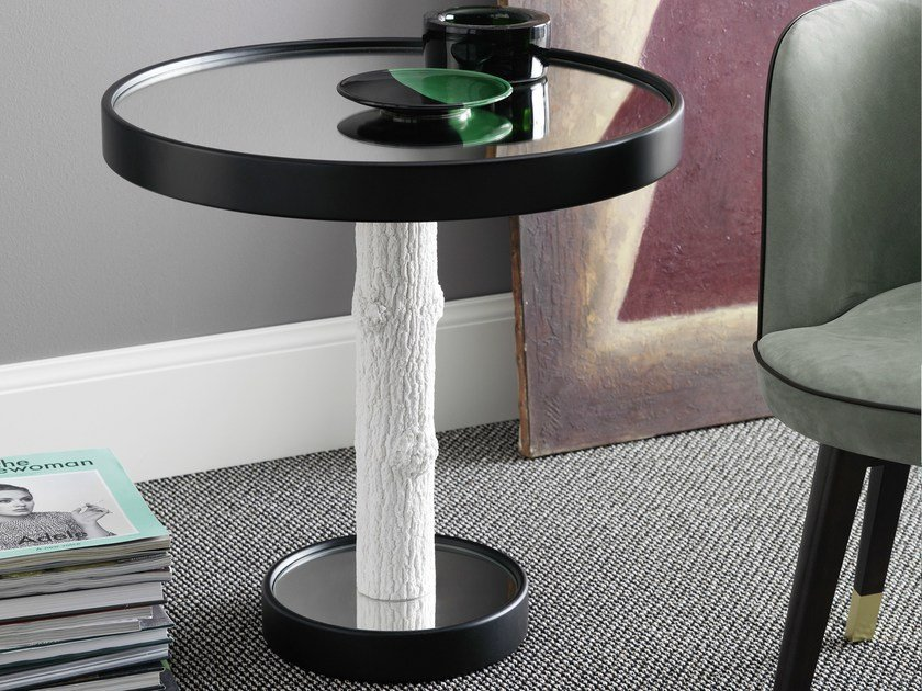 Round coffee table CORTECCIA by FontanaArte