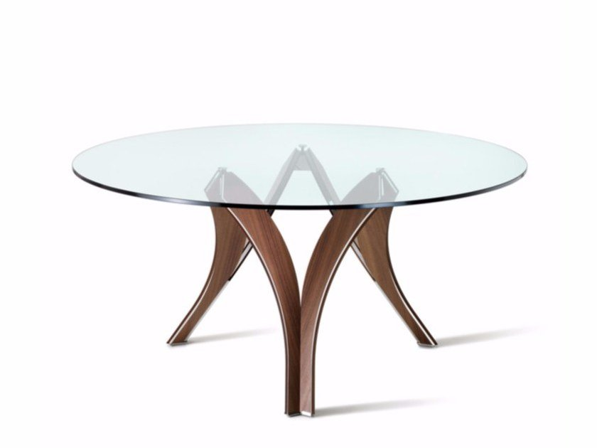 Round crystal table CORTINA by Cattelan Italia