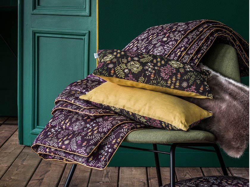Reversible cotton bedding set with floral pattern COSIMA | Bedding set by Alexandre Turpault