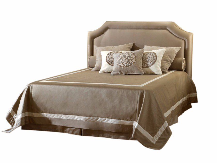Fabric double bed with upholstered headboard COSIMO by SOFTHOUSE