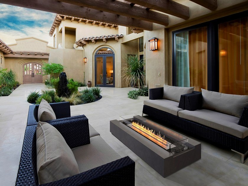 Outdoor freestanding bioethanol fireplace COSMO 50 by EcoSmart Fire