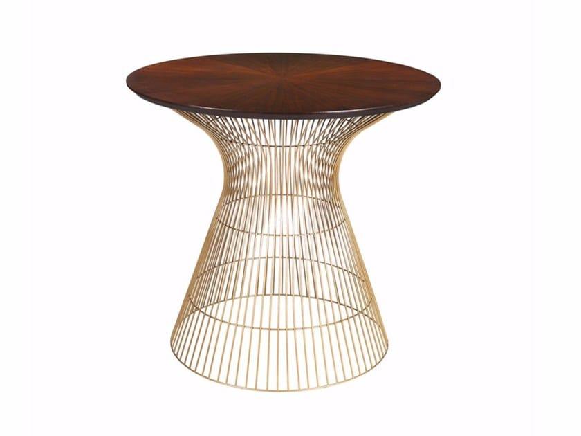 Round walnut side table COSMOS SIDE by Hamilton Conte Paris